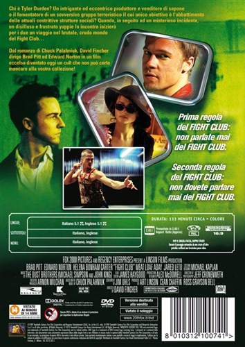 fight club dvd  Film Fight Club DVD film | LaFeltrinelli