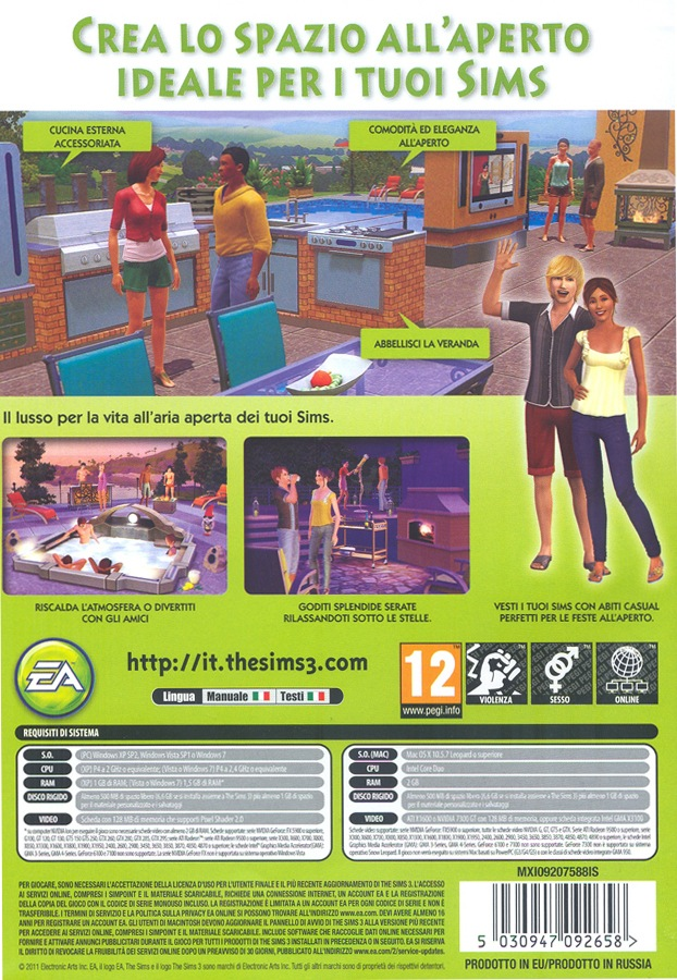 The Sims 3 Outdoor Living Stuff Pc