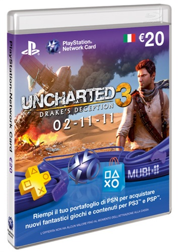 Psn Cards 20 Euro Uncharted 3 Lafeltrinelli