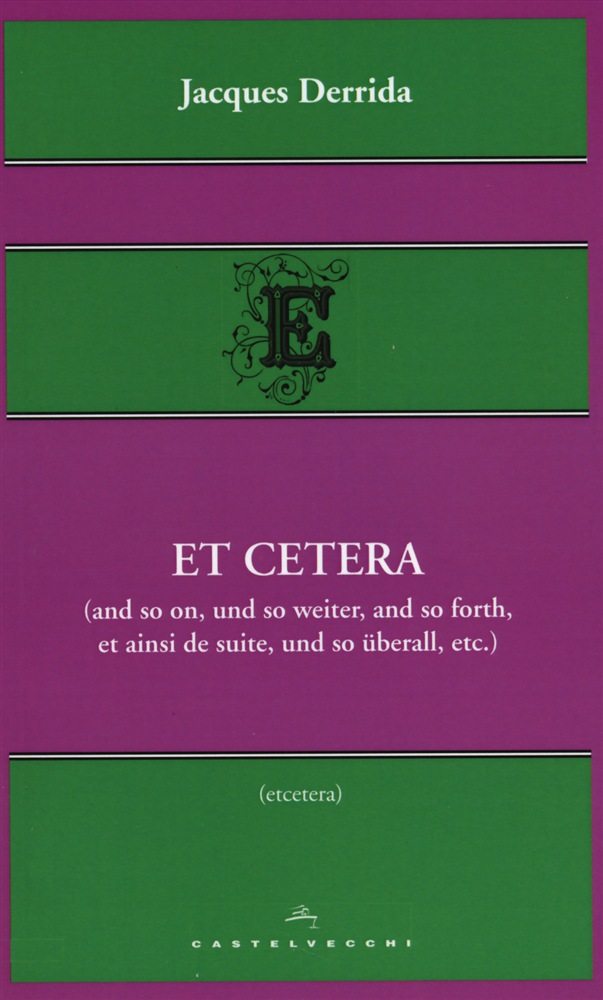 leggere in linea Et cetera (And so on, und so weiter, et ainsi de suite, etc.) pdf, epub