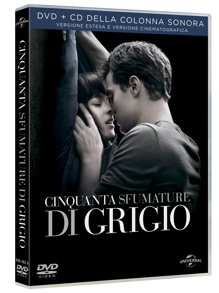 50 sfumature di grigio dvd cd colonna sonora extra special edition