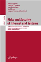 Risks and Security of Internet and Systems