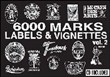 6000 marks mini. Labels & vignettes. Con CD-ROM Vol. 2