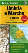 Umbria e Marche 1:200.000. Ediz. multilingue