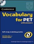 Vocabulary for PET with answers + CD