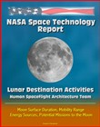NASA Space Technology Report: Lunar Destination Activities, Human Spaceflight Architecture Team, Moon Surface Duration, Mobility Range, Energy Sources, Potential Missions to the Moon