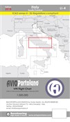 Avioportolano. VFR flight chart LI 4 Italy south-central. Ediz. bilingue