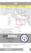 Avioportolano. VFR flight chart LI 5 Italy south. Ediz. bilingue