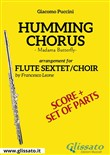 Humming Chorus - Flute sextet/choir score & parts