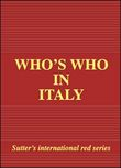 Who's who in Italy 2009