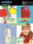 Pintas, cuartos y galones (Pints, Quarts, and Gallons:Measuring)