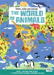 The world of animals. Travel, learn and explore. Libro puzzle