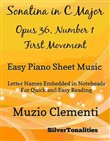 Sonatina in C Major Opus 36 Number 1 First Movement Easy Piano Sheet Music