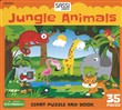 Jungle animals. Giant puzzle and book