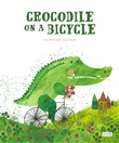 Crocodile on a bycicle