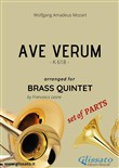 Ave Verum by Mozart - brass quintet - set of PARTS