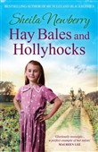 Hay Bales and Hollyhocks
