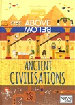 The history of civilization. Pop-up above and below