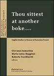 Thou sittest at another boke... English studies in honour of Domenico Pezzini