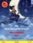 My Most Beautiful Dream – Moj najljepši san. Bilingual children's picture book (English – Croatian), with audiobook for download