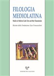 Filologia mediolatina. Studies in medieval latin texts and their transmission (2018). Vol. 25