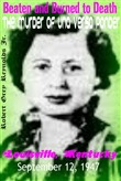 Beaten and Burned To Death The Murder of Una Versa Ponder Louisville, Kentucky September 1947