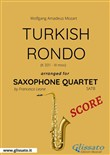 Turkish Rondo - Saxophone Quartet SCORE