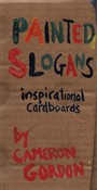 Painted slogans: inspirational cardboards
