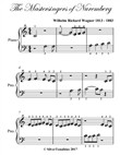 Mastersingers of Nuremberg Beginner Piano Sheet Music