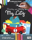 My city. Drawing and coloring. Chalkboard book