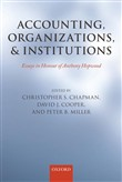 Accounting, Organizations, and Institutions