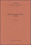 Papers on roman elegy