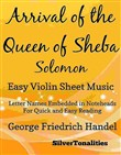 Arrival of the Queen of Sheba Solomon Easy Violin Sheet Music