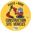 Construction site vehicles. Puzzle gigante