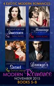 Modern Romance November 2015 Books 5-8: Unwrapping the Castelli Secret / A Marriage Fit for a Sinner / Larenzo's Christmas Baby / Bought for Her Innocence