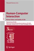 Human-Computer Interaction. Human Values and Quality of Life