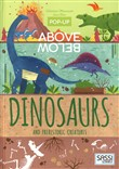 Dinosaurs and prehistoric creatures. Pop-up above and below