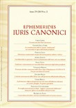 Ephemerides Iuris canonici (2019). Vol. 2