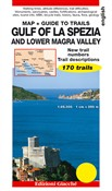 Gulf of La Spezia and Lower Magra Valley. Map. Guide to trails. 170 trails. Scale 1:25.000