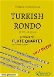 Turkish Rondo - Flute Quartet set of PARTS