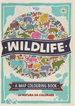 Wildlife. Map colouring book
