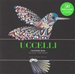 Uccelli. Black premium. Colouring book antistress