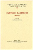 Carteggi paretiani (1892-1923)