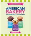 American bakery. Tanti golosi dolci a stelle e strisce