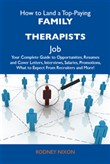 How to Land a Top-Paying Family therapists Job: Your Complete Guide to Opportunities, Resumes and Cover Letters, Interviews, Salaries, Promotions, What to Expect From Recruiters and More