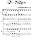 The Valkyrie Elementary Piano Sheet Music