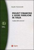 Project Financing e opere pubbliche in Italia