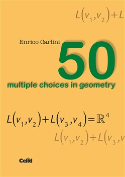 Image of 50 multiple choices in geometry - Enrico Carlini