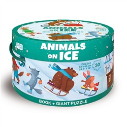 Animals on ice. Con puzzle