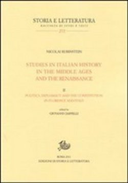 Studies in italian history in the Middle Ages and the Renaissance Vol